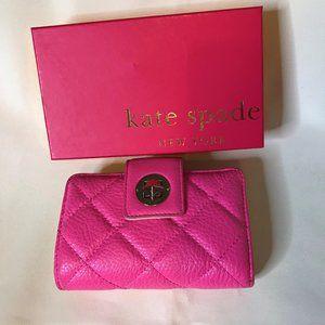 Kate Spade NY NIB Neonpink Pebble Leather Wallet